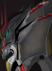 Dragon!Prowl By Sue-ee