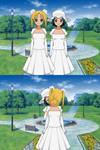 Kiskae Yuri Wedding 2 : usagi and ami by Master-5