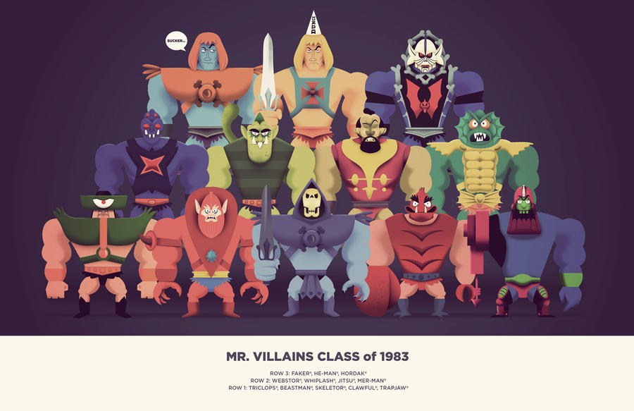 Mr  Villains Class of 1983 by TheBeastIsBack on DeviantArt