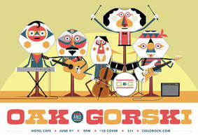 Oak and Gorski - Gig Poster