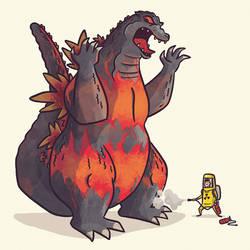 Godzilla (Burning) by TheBeastIsBack