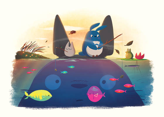 Totoro-fishing