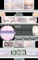 +|F2U|+ Pastel Sea Shores Custombox by RariDecor