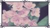  F2U  Dark leaves, pink flowers stamp