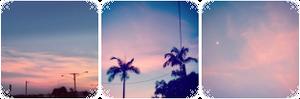 {F2U} Pastel sunset aesthetic divider