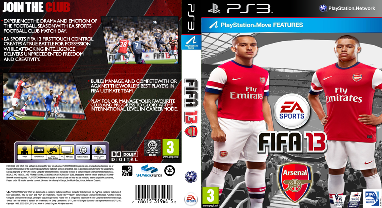 Custom Arsenal Fifa 13 Cover By Srlwilsongraphics D5i2lsgpng
