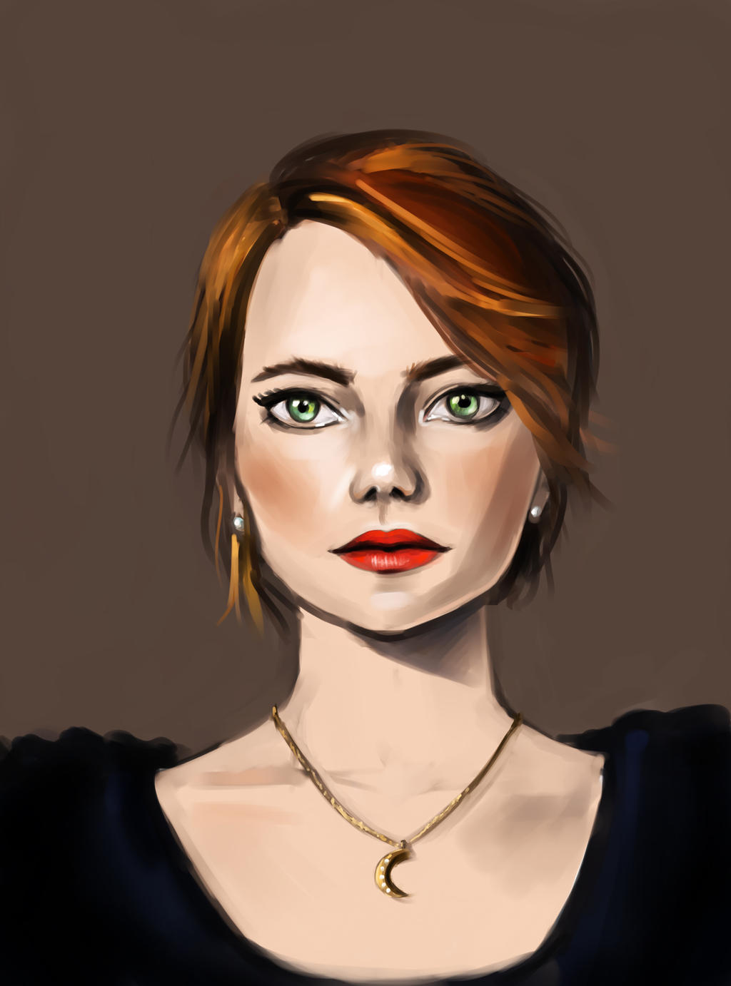 It's Emma Stone by Lalochnica