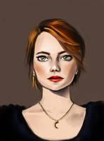 It's Emma Stone by Lalochnica