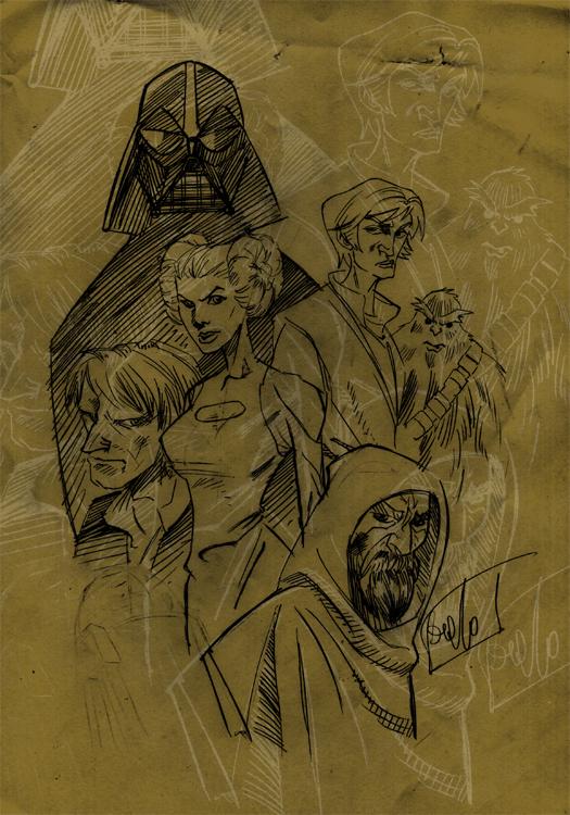 star wars sketch by MeloMonaco