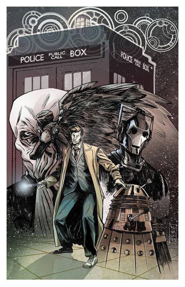 Copia di doctor who pin up by MeloMonaco