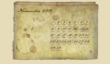 NaNoWriMo Calendar by moonfreak