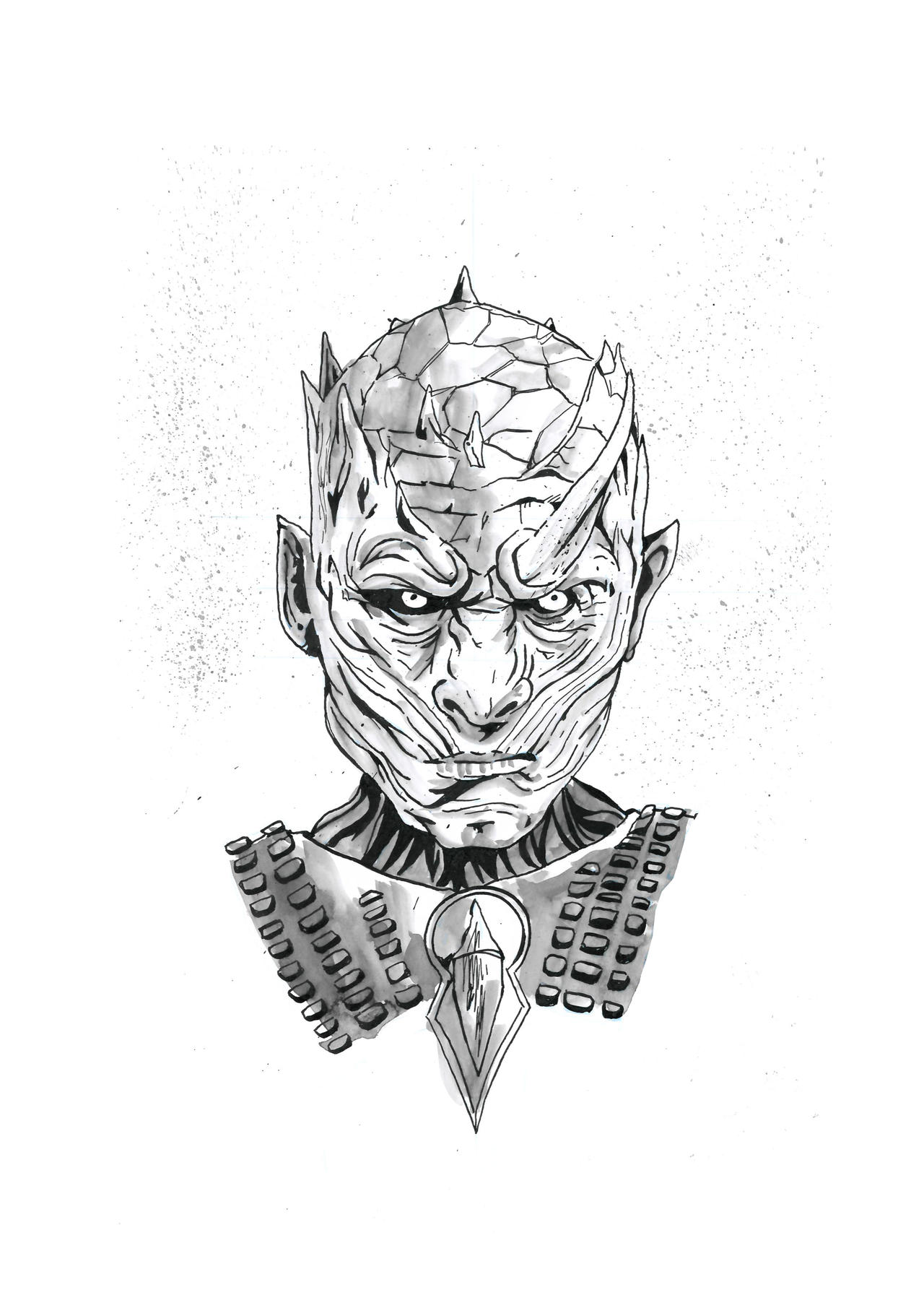 Line Drawing Of Your House : Night s king game of thrones sketch by brendanpurchase on