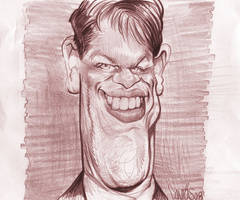 Caricature sketch Matt Damon by nelsonsantos
