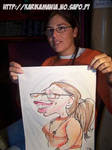 Live Caricature Girl