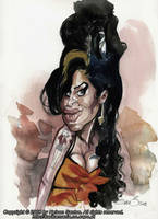 Caricature Amy Winehouse by nelsonsantos