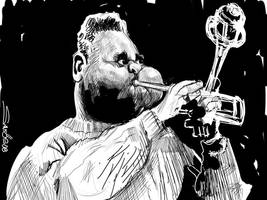 Dizzy Gillespie rough sketch by nelsonsantos