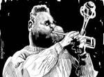 Dizzy Gillespie rough sketch