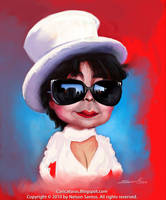Yoko Ono caricature by nelsonsantos