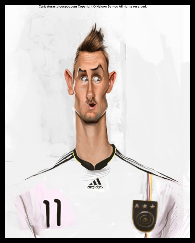 Miroslav Klose caricature