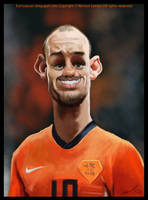 Wesley Sneijder caricature by nelsonsantos
