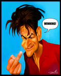 Caricature of Charlie Sheen