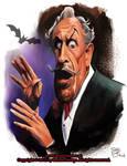 Vincent Price Happy Halloween Illustration