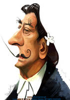 Salvador Dali caricature by nelsonsantos