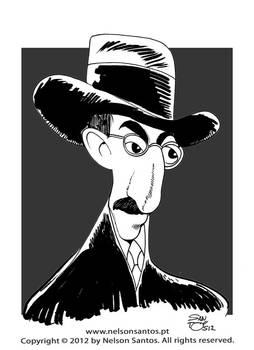 Fernando Pessoa caricature portrait