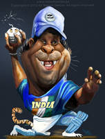 Sachin Tendulkar Bombay Bomber caricature by nelsonsantos