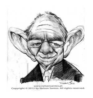 Wolfgang Schauble caricature