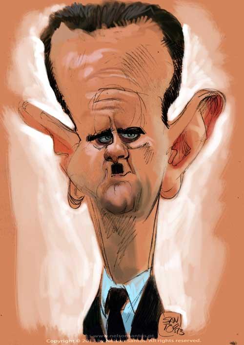 caricature of Syrian President Bashar Al-Assad