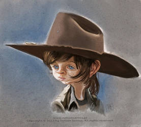 Carl-Grimes-the-kid-from-walking-dead-caricature by nelsonsantos