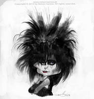 Caricature of Siouxsie Sioux