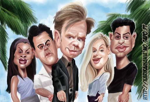CSI Miami cast Caricature