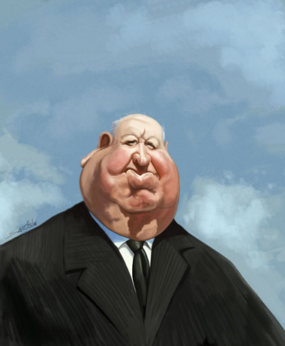 Caricaturas de famosos Alfred_Hitchcock_caricature_by_nelsonsantos
