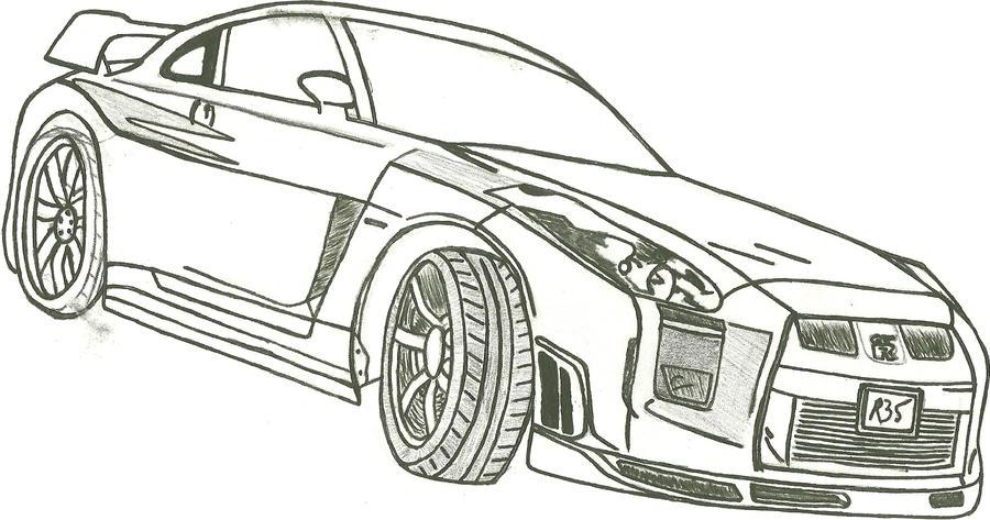 Line Drawing Nissan Gtr : Nissan gtr by xxbbphobiaxx on deviantart