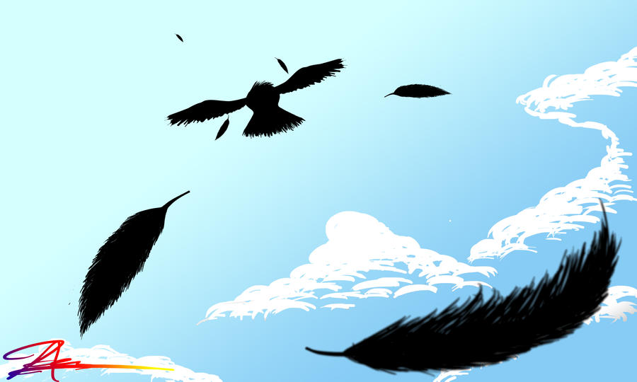 Crow Flying Away Drawing