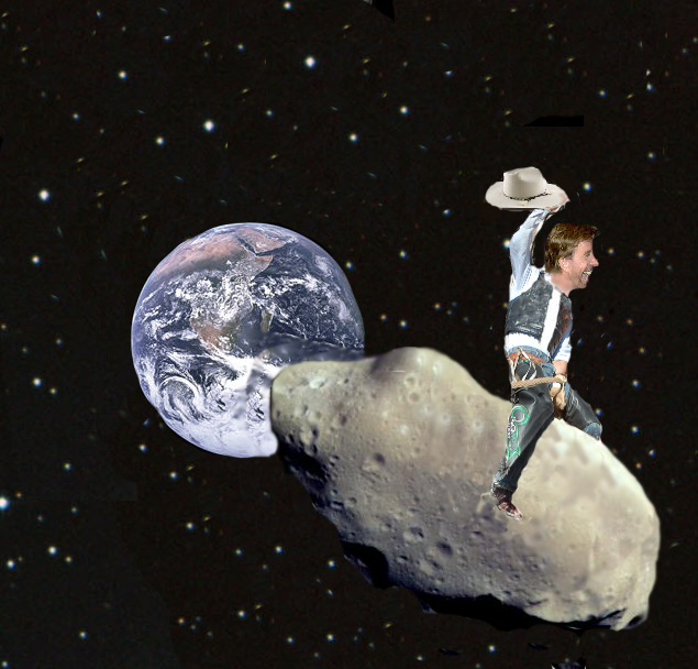 Chuck Norris Asteroid Cowboy by marshmellok on deviantART