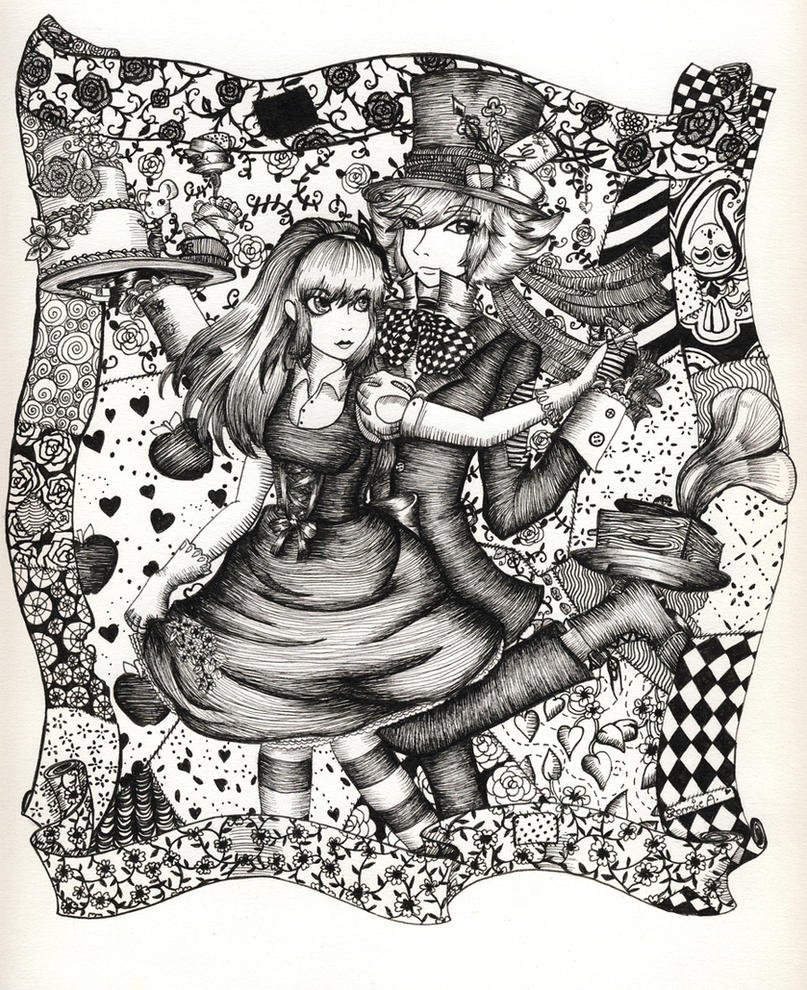 Alice and the Mad Hatter by Navajo-girl