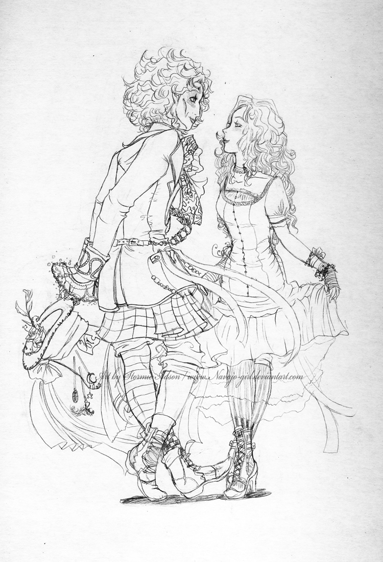 Shall we dance? sketch by Navajo-girl