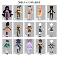 Cheap adoptables batch 2 [ OPEN 9/15 ] SET PRICE by ReeSell