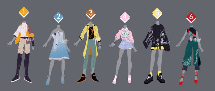 Outfit adopts 04 [ OPEN 2/6 ] set price