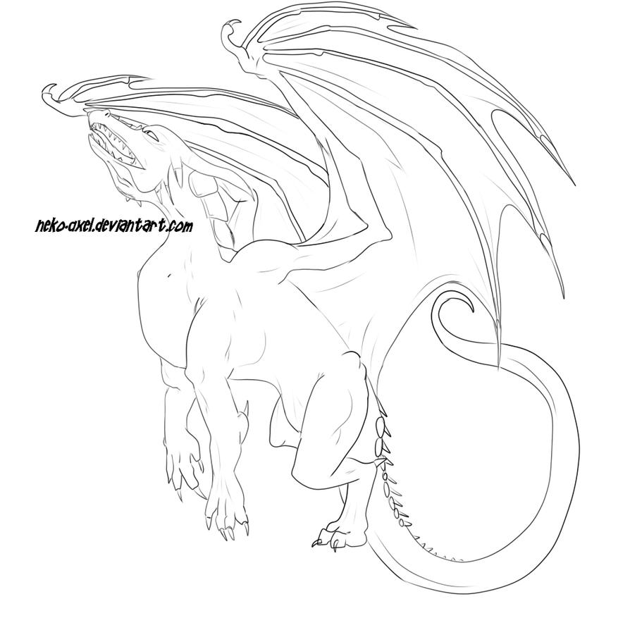Colorable Dragon Lineart ^_^ by Neko-Axel on DeviantArt
