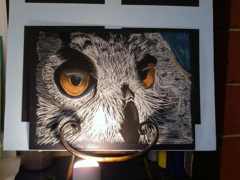 Oil Pastel Owl by Neko-Axel