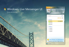 Windows live messenger UI by amine5a5