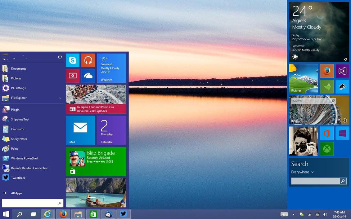 Sidebar is back to Windows 10 by amine5a5