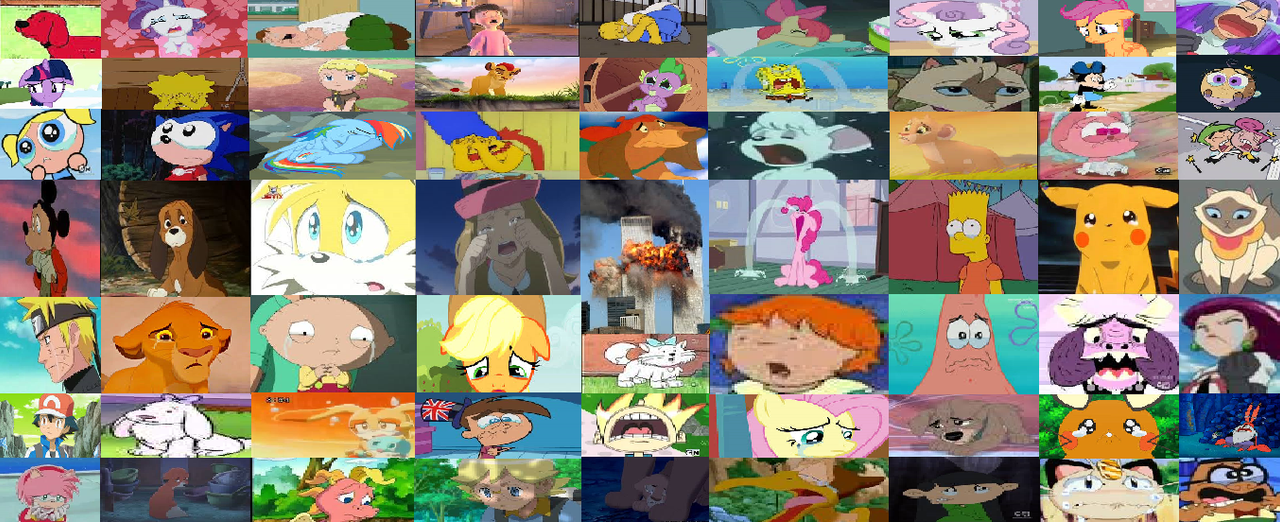 Cartoon Characters Crying : Characters crying over by arvinsharifzadeh on deviantart