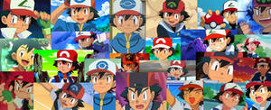 Ash Ketchum collage