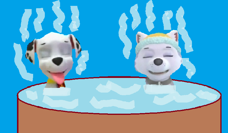 Marshall And Everest In The Hottub By Arvinsharifzadeh ...