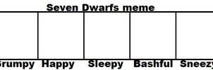 Seven Dwarfs meme template blank